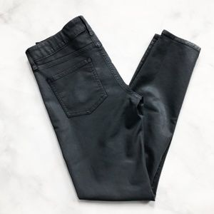 Elie Tahari Audrey Skinny Coated Denim Grey
